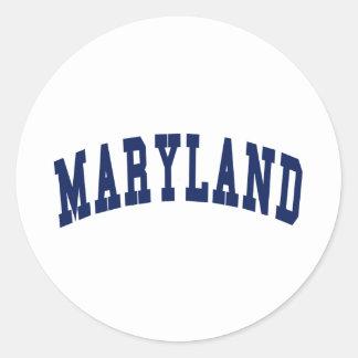 Universidad de Maryland Pegatina Redonda