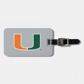 Universidad de Miami U Etiquetas Bolsa