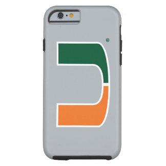 Universidad de Miami U Funda De iPhone 6 Tough