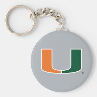 Universidad de Miami U Llavero Redondo Tipo Pin