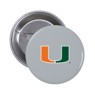 Universidad de Miami U Pin Redondo De 2 Pulgadas