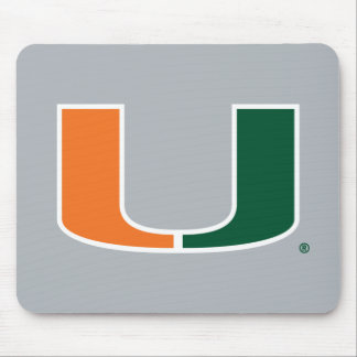 Universidad de Miami verde y del naranja U Mouse Pads