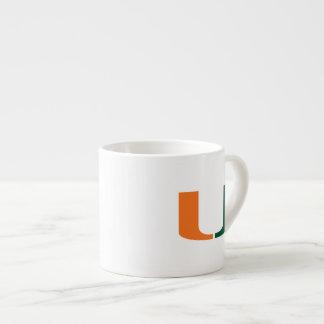 Universidad de Miami verde y del naranja U Taza Espresso