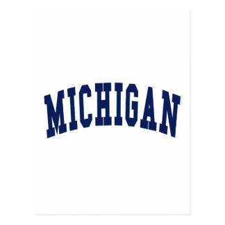 Universidad de Michigan Tarjetas Postales