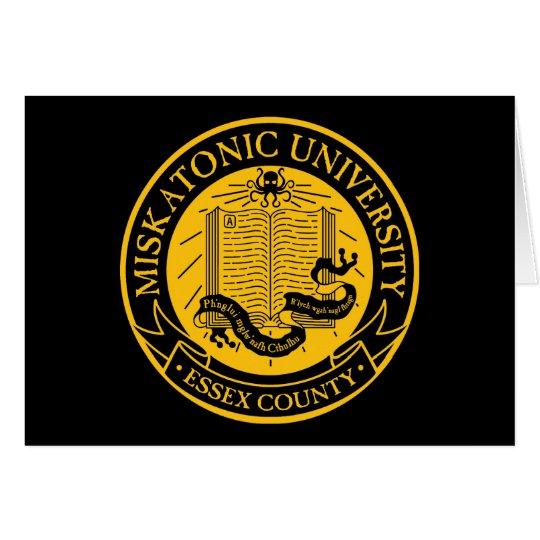Universidad de Miskatonic Tarjeta De Felicitación