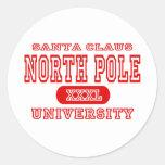 Universidad de Polo Norte Pegatina Redonda