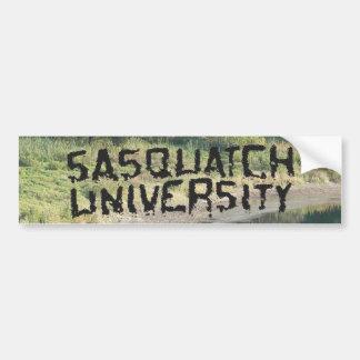 Universidad de Sasquatch - productos múltiples Pegatina Para Auto