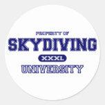 Universidad de Skydiving Etiquetas Redondas
