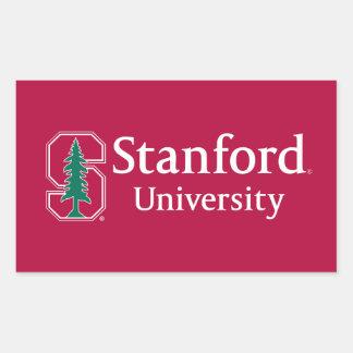 "Universidad de Stanford con el bloque cardinal ""S"" Pegatina Rectangular"