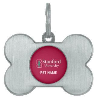 """Universidad de Stanford con el bloque cardinal """"S"""" Placa De Nombre De Mascota"""