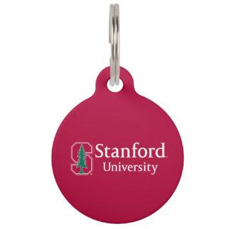 """Universidad de Stanford con el bloque cardinal """"S"""" Placa Para Mascotas"""