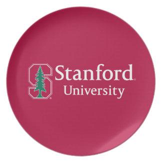 """Universidad de Stanford con el bloque cardinal """"S"""" Plato"""