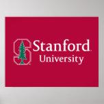 """Universidad de Stanford con el bloque cardinal """"S"""" Póster"""