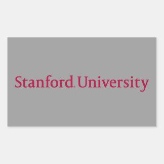 Universidad de Stanford Pegatina Rectangular