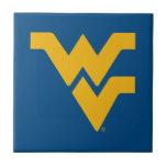 Universidad de Virginia Occidental Azulejo Cuadrado Pequeño