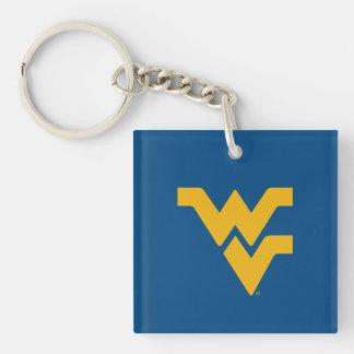 Universidad de Virginia Occidental Llavero Cuadrado Acrílico A Doble Cara