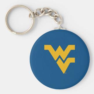 Universidad de Virginia Occidental Llavero Redondo Tipo Pin
