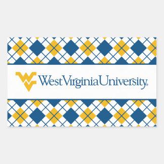 Universidad de Virginia Occidental Pegatina Rectangular