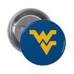 Universidad de Virginia Occidental Pin Redondo De 2 Pulgadas