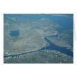 Universidad de visión aérea de Washington Seattle Tarjeta Pequeña