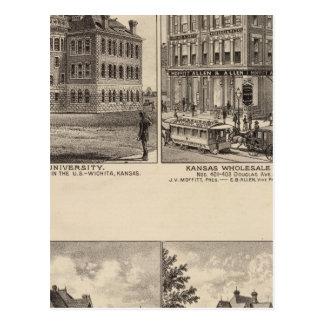 Universidad de Wichita, Kansas Tarjetas Postales