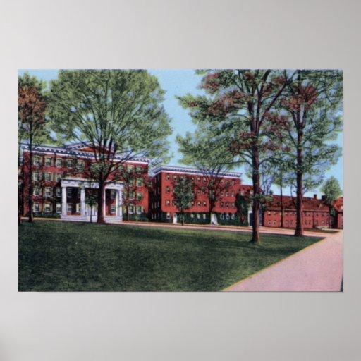 Universidad de Winston Salem Carolina del Norte Sa Poster