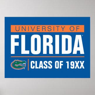 Universidad del año de la clase de la Florida Poster