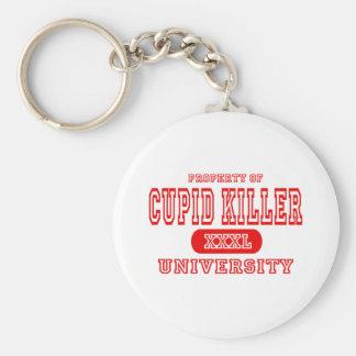 Universidad del asesino del Cupid Llavero Redondo Tipo Pin