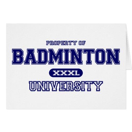 Universidad del bádminton tarjeta de felicitación