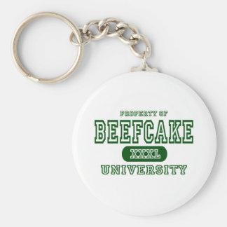 Universidad del Beefcake Llavero Redondo Tipo Pin
