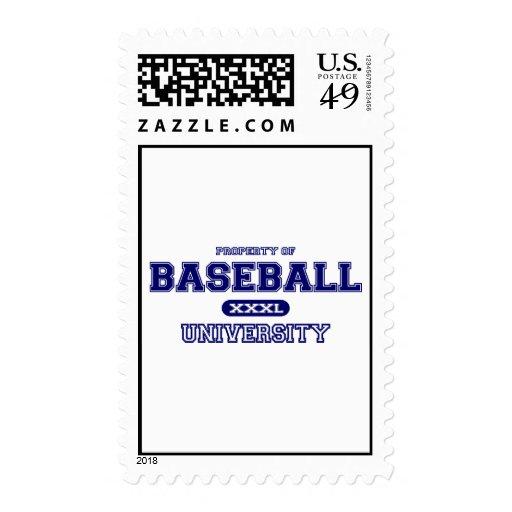 Universidad del béisbol sellos postales