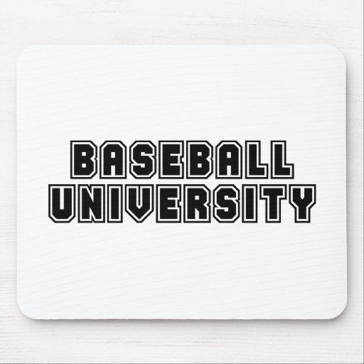 Universidad del béisbol tapete de ratón