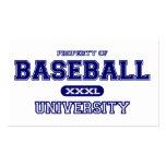 Universidad del béisbol tarjetas de visita