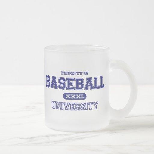 Universidad del béisbol taza
