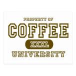Universidad del café tarjeta postal