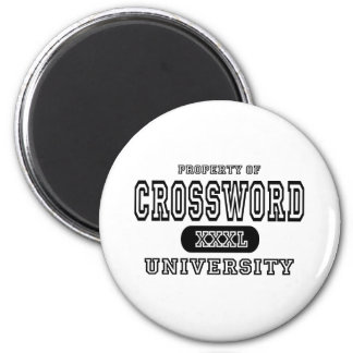 Universidad del crucigrama imán redondo 5 cm