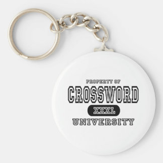 Universidad del crucigrama llavero redondo tipo pin