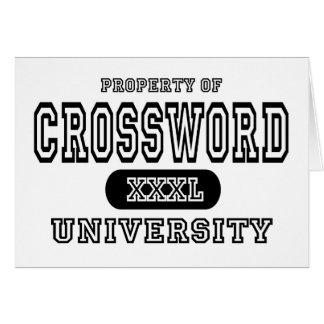 Universidad del crucigrama tarjeta de felicitación