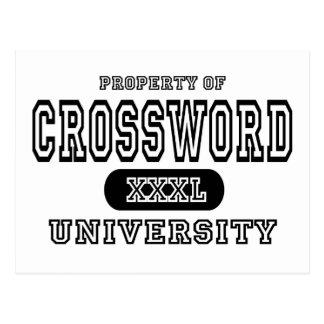 Universidad del crucigrama tarjeta postal