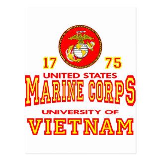 Universidad del Cuerpo del Marines de Estados Tarjeta Postal