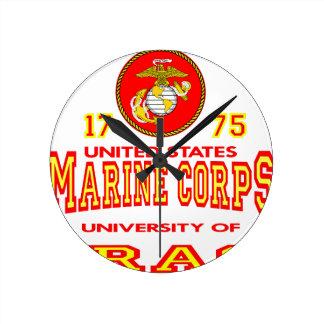 Universidad del Cuerpo del Marines de Estados Unid Reloj Redondo Mediano