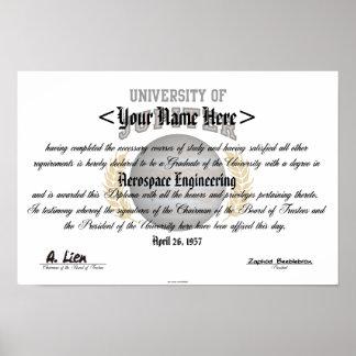 Universidad del diploma de Júpiter Poster