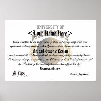 Universidad del diploma de Mercury Poster