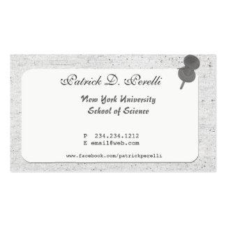 Universidad del estudiante universitario tarjetas de visita
