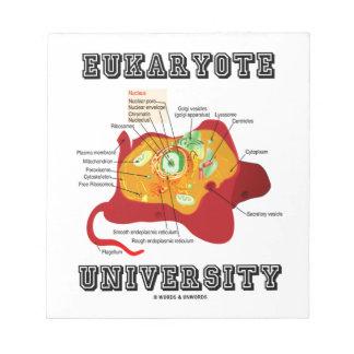 Universidad del eucariota (célula animal) blocs de papel