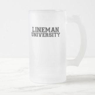 Universidad del instalador de líneas taza de café