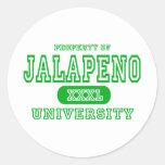 Universidad del Jalapeno Pegatina Redonda
