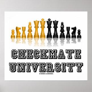 Universidad del jaque mate (juego de ajedrez refle poster