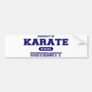 Universidad del karate pegatina para auto