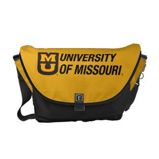 Universidad del logotipo de Missouri MU Bolsas Messenger